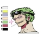 Roronoa Zoro Face One Piece Embroidery Design 02